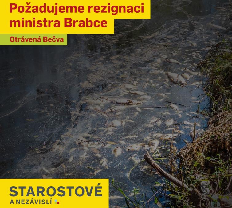 Jana Krutáková: v kauze otravy Bečvy musí být vyvozena odpovědnost