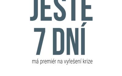 Premiér Andrej Babiš má ještě týden na vyřešení krize